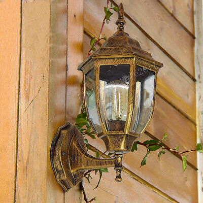Ip44 Outdoor Light Security Home Outside Wall Lamp Glass Lantern Garden Sconce • 17.99£
