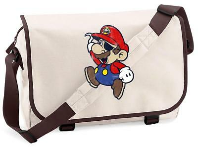 Bnwt Mario Pirate Nintendo Gaming  Messenger Shoulder Bag School • 15.99£