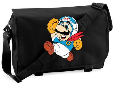 Bnwt Mario Racing Driver Kart Nintendo Gaming  Messenger Shoulder Bag School • 15.99£
