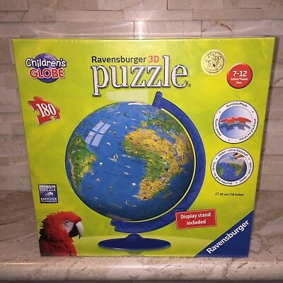 $18.99 • Buy Ravensburger Childrens Globe 180 Pc Shaped Puzzle Ball New