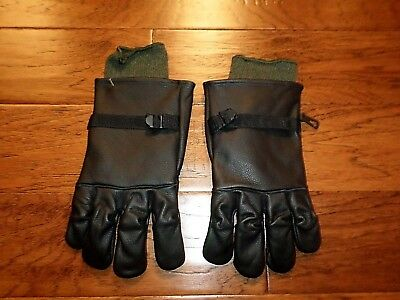 $29.98 • Buy U.s Military Style D-3a Leather Gloves Cold Wet Weather Size 5 Large W/liner