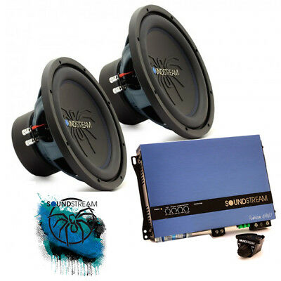 Soundstream Double 30cm 12  Sub Woofer Bass Box Amplifier Car Audio Package Deal • 375£