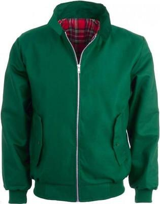 Harrington Jacket,  Green Mod Retro Bomber - Relco • 40£