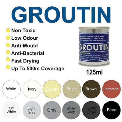 Groutin Grout Reviver & Restorer, Grout Pen, Anti-Fungal & Anti Bacterial 125ml • 13.99£