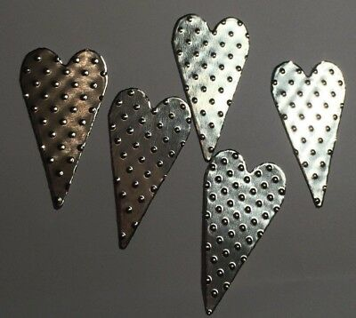 10th Wedding Anniversary Scatter Decorations/tin Hearts/embellishments/confetti • 1.39£