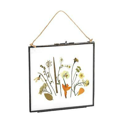 £9.99 • Buy Hanging Photo Frame Vintage Glass Picture Square Display 8x8 Photos