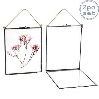 £15.49 • Buy Hanging Photo Frame Vintage Glass Picture Wall Display 8x10 Photos - Pack Of 2