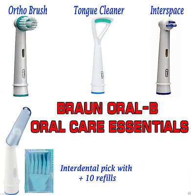 £5.49 • Buy 100 % Genuine Braun Oral-b Oral Care Essentials_ All 4 Models_toothbrush Heads