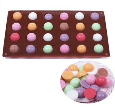 £5.80 • Buy 24 Cell Semi Sphere Circle Dome Chocolate Ice Cake Pop Wax Melts Baking Mould