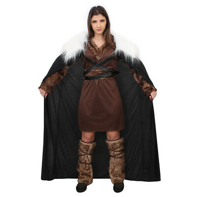 $ CDN58.84 • Buy Ladies Viking Costume With Cape Historical Medieval Warrior  Fancy Dress Outfit