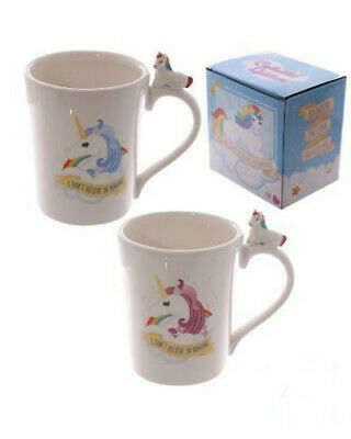 AU14.85 • Buy Unicorn And Rainbows I Don't Believe In Humans Coffee Mug Tea Cup With Gift Box