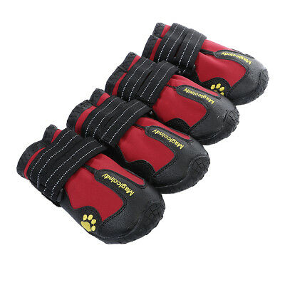Large Dog Non Skid Shoes Snow Boots Reflective Waterproof For Husky M Red • 12.01£