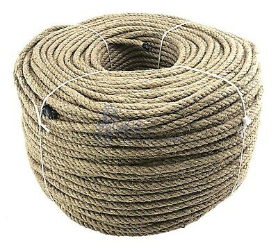 8mm Natural Jute Rope, Twisted Braided Decking Garden & Boating Hessian Cord • 22.75£