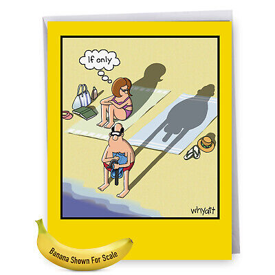 $9.62 • Buy J8296BDG Jumbo Funny Birthday Card: If Only With Envelope - NobleWorks Cards