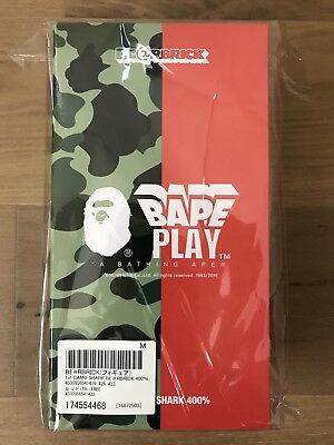 $500 • Buy Medicom Bearbrick 2016 Bape 1st Camo Shark Red 400% Limited Be@rbrick NEW