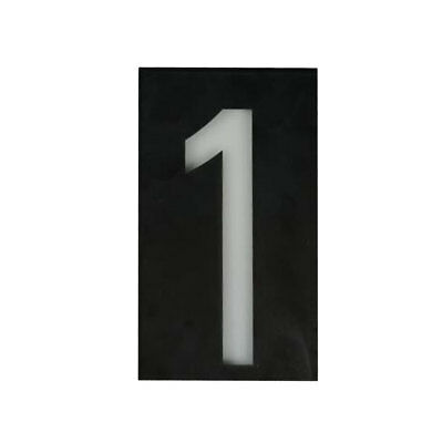 Solar Powered Led Illuminated House Door Number Light Wall Plaque Modern- 1 • 11.21£