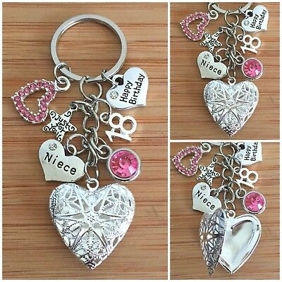 £5.99 • Buy Personalised HAPPY BIRTHDAY Gifts Charm Keyring 13th 18th 21st 30th Gift For Her