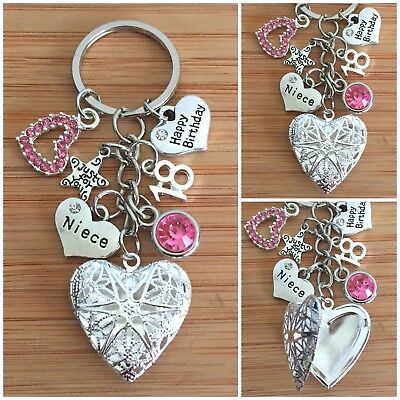 Personalised HAPPY BIRTHDAY Gifts Charm Keyring 13th 18th 21st 30th Gift For Her • 5.99£