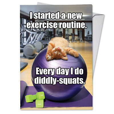 $4.25 • Buy C3955BDG Funny Single Birthday Greeting Card: Diddly Squats With Envelope