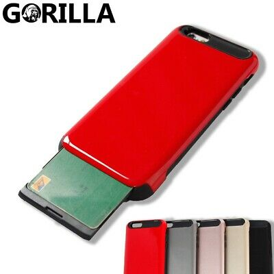 AU3.51 • Buy Heavy Duty Tough Armor Card Wallet Case Cover For Apple IPhone 7 8 Plus 6S Hard
