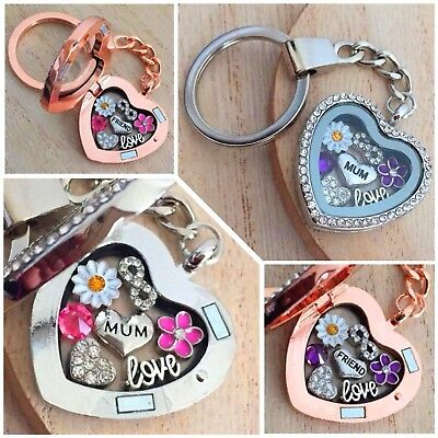 £5.99 • Buy Birthday Gifts Heart Locket Keyring For Mum Friend Daughter Xmas Gift For Her