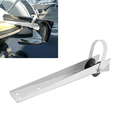 Universal Stainless Steel Boat Bow Anchor Roller Bracket 390mm Marine Yacht • 32.31£