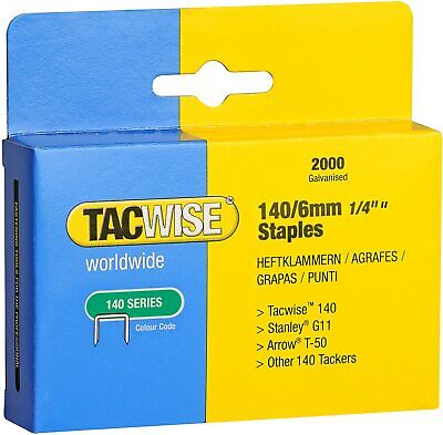 TACWISE 140 SERIES STAPLES In Various Size (8mm, 10mm, 12mm & 14mm) • 6.99£