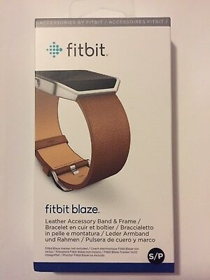 $ CDN46.73 • Buy Fitbit Blaze Accessory Replacement Leather Wrist Band & Frame LARGE Brown OEM