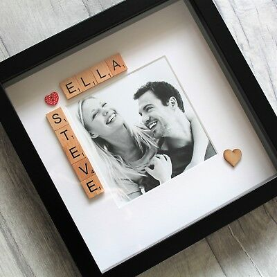 ChristmasGirlfriend Boyfriend Personalised Photoframe Gift Present Handmade Wife • 25.99£