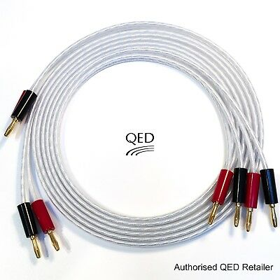 $ CDN56.91 • Buy QED XT25 Performance Speaker Cable 2 X 2m Gold Banana Plugs Terminated Pair