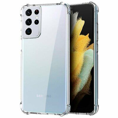 AU5.90 • Buy Shockproof Galaxy S21 S8 S9 Note 9 8 Tough Soft Gel Clear Case Cover For Samsung