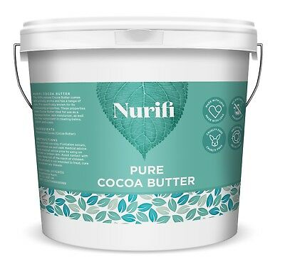 1KG UNREFINED COCOA BUTTER - 100% Food Grade, Pure & Natural - INTRODUCTORY SALE • 11.95£
