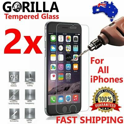 AU6.90 • Buy 2X Gorilla Tempered Glass Screen Protector Apple IPhone 12 11 Pro Max XS XR 8 7