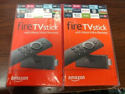 AU127.53 • Buy Two Amazon Fire TV Stick HD 2019 W/Alexa Voice Remote 2x Lot $44.50 EACH!!!