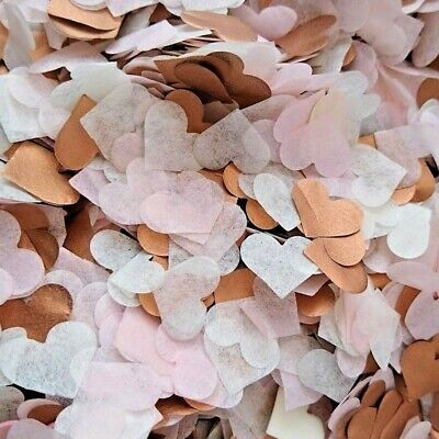 £3.10 • Buy 3500 Wedding Confetti Biodegradable ROSE GOLD/COPPER PINK Tissue Paper Hearts