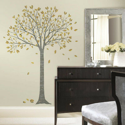 RoomMates Gold Leaf Tree Wall Stickers, Adult Gold Leaf Tree Wall Decals • 20£