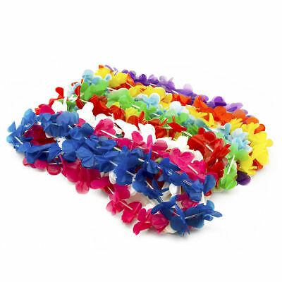 500pc Hawaiian Leis Flower Luau Party Favor Tropical GRADUATION Necklace LOT • 57.34£