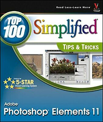 £3.49 • Buy Photoshop Elements 11 Top 100 Simplified Tips & Tricks By Sheppard, Rob Book The