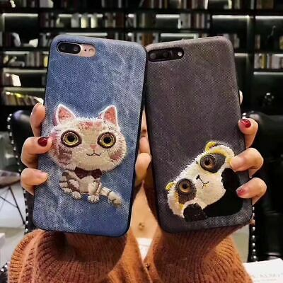 AU6.90 • Buy Shockproof Cute Animal Embroidery IPhone 6 8 7 Plus Xs Case Soft Cover For Apple