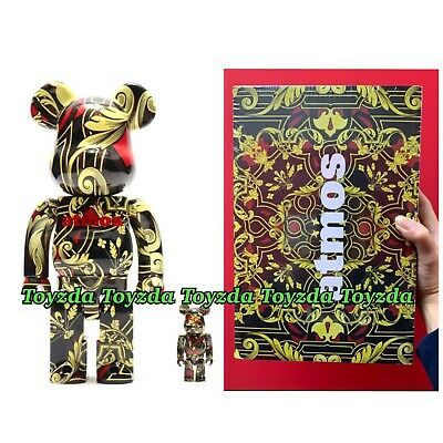 $258.88 • Buy Medicom 2018 Atmos Scarf 400% + 100% Set Be@rbrick Bearbrick 2pcs