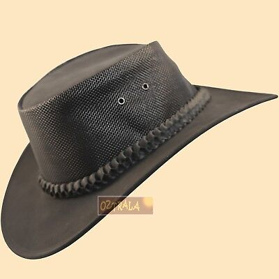 ○oZtrALa○ Kangaroo LEATHER Hat Breezer Cowboy Mens Womens Camping Golf  OUTBACK○○ • 1845dc4ca69f