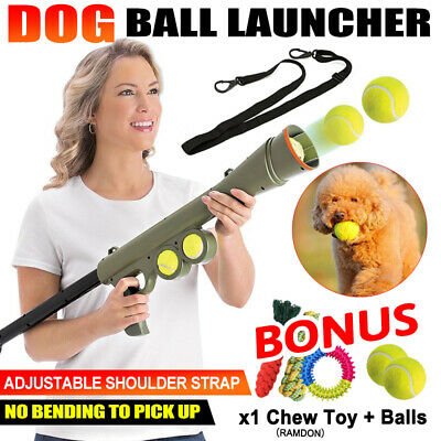 AU23.38 • Buy Dog Tennis Ball Gun Launcher  Pet Play Outdoor Toy Fetch Throw Interactive Toy