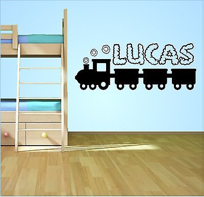 Personalised Name Train Wall Art Sticker Decal Boys Bedroom Childrens Decor  • 7.99£