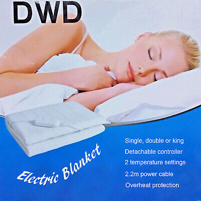 DWD Electric Under Blanket With Detachable Controller And Overheat Protection  • 12.99£