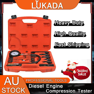 AU47.90 • Buy 17 Pc Diesel Engine Compression Tester Kit Tool Set Automotive Compressor