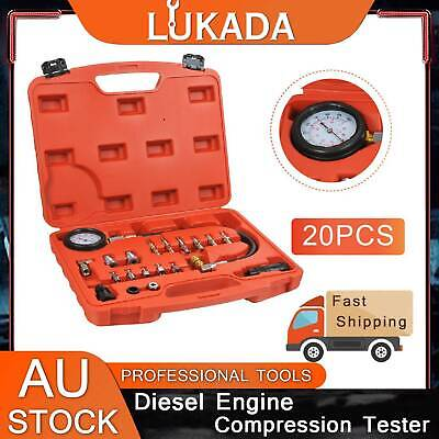 AU47.99 • Buy 20 Pc Diesel Engine Compression Automotive Compressor Tester Kit Tool Set LUKADA
