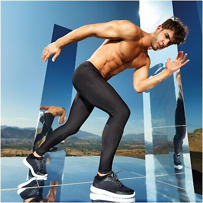 Men Fitness Leggings Base Layer Trousers Training Sports Gym Compression Pants • 20.65£