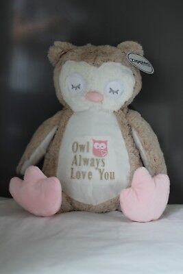 £18 • Buy Personalised Teddy Owl Bunny Gift Zippie Soft Memory Mumbles Soft Cuddly Toy