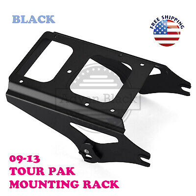 $159 • Buy Black Detachable 2 Up Tour Pack Mounting Rack Fit Harley Touring 09-13 53276-09