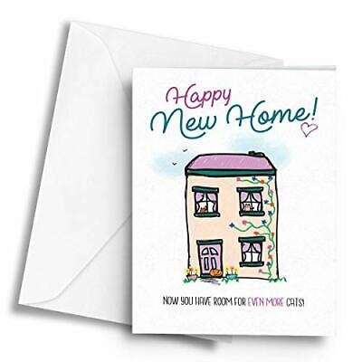 Happy New Home! (Room For More Cats) - A5 Greetings Card • 3.49£